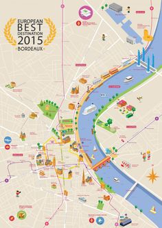 Become inspired to travel to Bordeaux. Visit the official site of Bordeaux Tourism. Attraction, France Map, Map Design, City Maps, Plan Your Trip, Vacation Ideas, Backpacking, Travel Destinations, Travel Tips