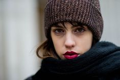 Shags & Stained Lips Are Ruling NYFW Street Style — & You Have To See 'Em+#refinery29