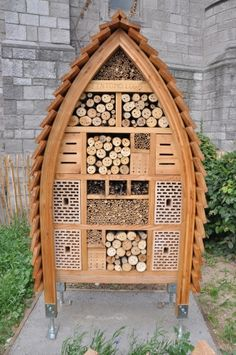 This bee hotel is nicer than the ones in which I stay at SeaTac.