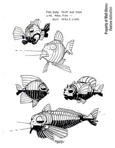 Fish n ships Atlantis: The Lost Empire concept art by Mike Mignola - Bronze Wool