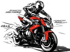 bmw moto design sketch