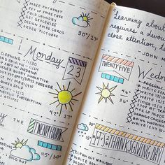 weekly spread for bullet journals | planners