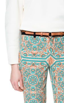 PAISLEY PRINT TROUSERS -I kinds like these- Trousers - Woman - ZARA United States