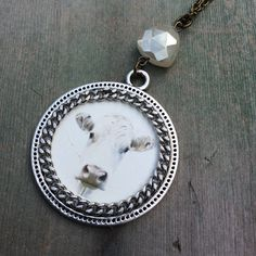 Sweet Face Cow Necklace/Boho/Midwest/Woodland/Mixed Metal/Western by TheOmbrePoodle on Etsy