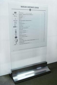 Tablica informacyjna z metalową podstawą.  Szyldy, plansze, banery reklamowe - Agencja Reklamowa Partner Łódź