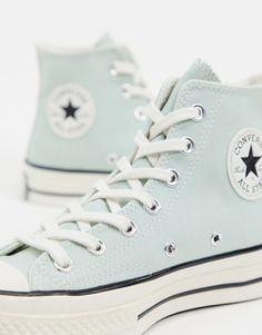 Order Converse Chuck Hi Mint Green sneakers online today at ASOS for fast delivery, multiple payment options and hassle-free returns (Ts&Cs apply). Get the latest trends with ASOS. Converse Chuck, Mode Converse, Green Converse, Converse Shoes, Outfits With Converse, Bridal Converse, Dr Shoes, Black Nike Shoes, Hype Shoes