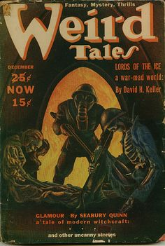 Weird Tales, Dec. 1939, cover by Hannes Bok