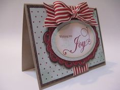 Wishing you Joy! card made using the NEW Cricut Twinkle Toes cartridge!