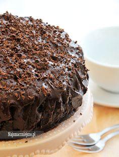 Tort czekoladowy, tort z czekoladą, czekolada, http://najsmaczniejsze.pl #food #przepis #ciasto #cake