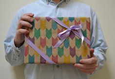 Homemade wrapping paper 2012