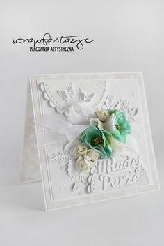 scrapfantazje, wedding card, kartka na ślub