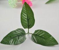 simulation branch leaf and stem Artificial leaves for DIY silk flower Garland Decor 20pcs