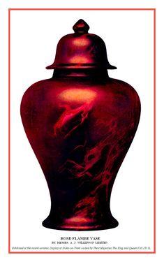 1913. Rose Flambe Vase Image Notes, Vase, Home Decor, Decoration Home, Room Decor, Vases, Home Interior Design, Home Decoration, Interior Design