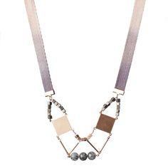 Sarah Fox: Shield Necklace Gray