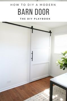 How to DIY a Modern Barn Door
