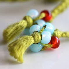 Friendship Bracelet Crochet Bracelet Beaded Bracelet by Solshei