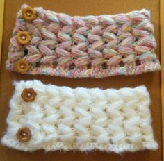 ぷっくりした編み目がかわいいパフステッチの子供用ネックウォーマーの編み方を解説しているページです。