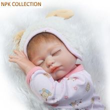 NPKCOLLECTION Silicone Reborn Dolls Babies Girl Doll for Children,18 Inch Full Body Silicone Reborn Dolls with Pacifier Clothes(China)