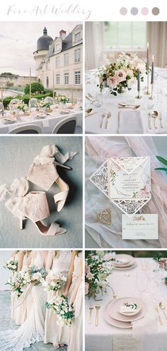 blush and light grey fine art destination wedding ideas