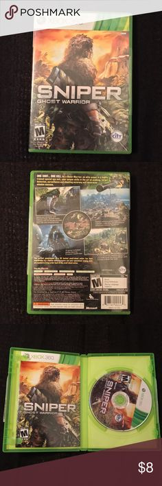 Sniper Ghost Warrior Good condition, rated M, Xbox 360 Other