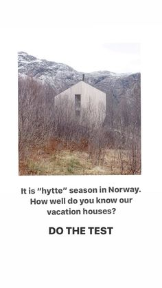 Historier • Instagram Norway, Seasons, Vacation, House, Outdoor, Instagram, Outdoors, Vacations, Home