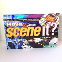 2007 Scene It Movie 2nd Edition DVD Board Game Mattel Complete #Mattel