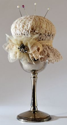 Bessie Pin Cushion by Karen Harbour @ www.southholderness.co.uk