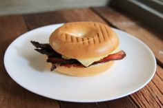 Bagel Sandwich with Bacon  cheese
