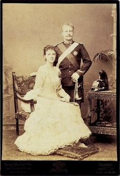 Queen Maria Amélia Luísa Helena de Orleães with her huisband HRM D.Carlos of Portugal