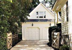 detached garage + this driveway .