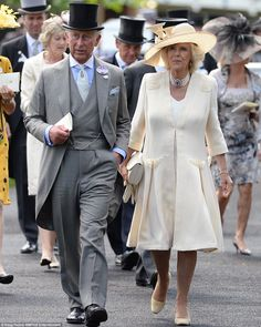 In style: The royal couple dressed to impress for the occasion 18 June 2014