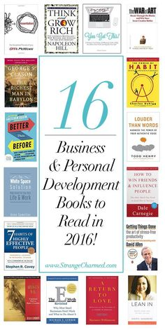 16 Business & Personal Development Books You Must Read in 2016!  Strange & Charmed