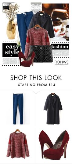 """""""Romwe 6/7"""" by amelaa-16 ❤ liked on Polyvore featuring Nate Berkus, Chanel and Michael Antonio"""