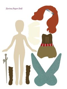 More paper dolls on the blog | Zarina, Vidia, and Fawn | victorious archive