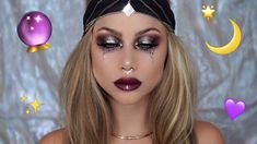 Looking for for inspiration for your Halloween make-up? Navigate here for creepy Halloween makeup looks. Costume Halloween, Creepy Halloween Makeup, Halloween Makeup Looks, Halloween 2018, Diy Halloween, Halloween Outfits, Scary Makeup, Witch Makeup, White Contacts Halloween