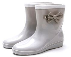 Sheinfashion Women's Bow Knot Rain Boots Short Garden Shoes *** You can get additional details at the image link.