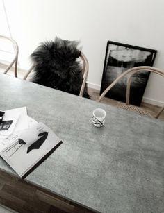 Concrete dining table | Found on EB & Kris |  ebandkris.com