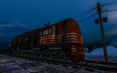https://flic.kr/p/CU7kba | Old Train | Second Life screen capture in Binemust  maps.secondlife.com/secondlife/Binemust/133/155/717