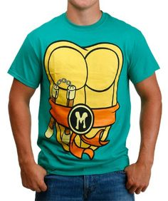 $20.00 This TMNT I Am Michelangelo T-Shirt has your favorite Teenage Mutant Ninja Turtle's shell printed on the front and back. Tubular!