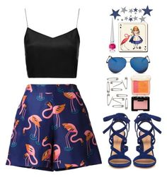 """""""Star-Studded... Flamingos?"""" by finding-0riginality ❤ liked on Polyvore featuring Delpozo, Boutique, Victoria Beckham, Gianvito Rossi, Avenida Home, NARS Cosmetics, Paul & Joe Beaute and Christian Louboutin"""