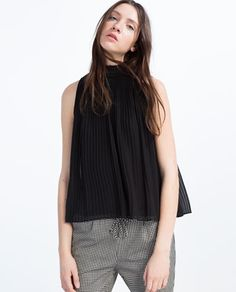 PLEATED TOP from Zara