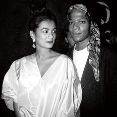 The Rise of Basquiat - Gallerist Mary Boone and Jean-Michel Basquiat. Courtesy of Patrick McMullan.