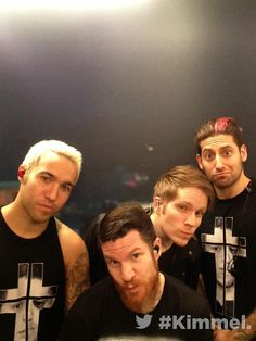 FOB.<< I love how this band has pictures of the whole band as a focus instead of the most popular one in the foreground