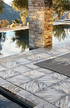 Lay the groundwork. Modern Outdoor Rugs, Modern Rugs, Outdoor Rooms, Outdoor Furniture, House Tiles, Living Essentials, Luxury Home Decor, Accent Decor, Swimming Pools