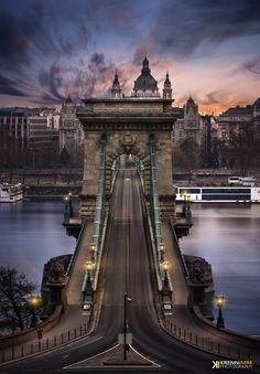Photograph Morning Chain Bridge - Budapest - Hungary - by Krénn Imre on 500px