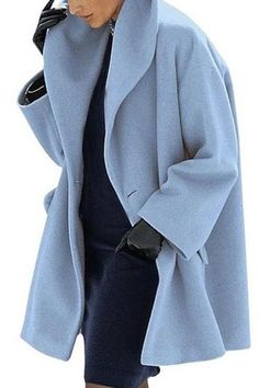 Warm Fashion Multi-Color Shawl Collar Coat - Trendy Shoes For Women Look Fashion, Fashion Outfits, Womens Fashion, Fashion Clothes, Fashion Cape, Casual Outfits, Female Fashion, Mode Mantel, Mode Style