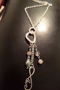 Infinity Love, Love Charms, Mid Length, Handmade Necklaces, Antique Silver, Glass Beads, Pendant Necklace, Chain, Facebook