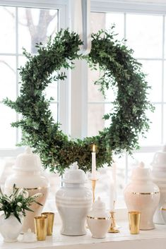 Lake House Dining Room Reveal: Modern Feminine Coastal - The Leslie Style Christmas Greenery, Christmas Tablescapes, Room Chairs, Dining Chairs, Dining Room, Floor Ceiling, Champagne Flutes, Flower Shape, Garland