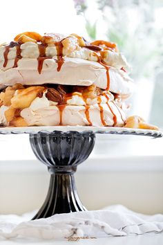 Apple, Pecan and Caramel Meringue Torte