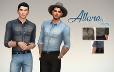Sims 4 CC's - The Best: Denim Allure Shirt for Males by Rope